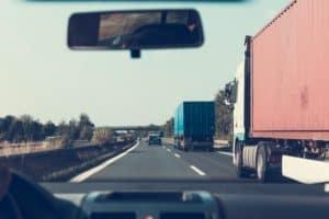 Semi-Truck Overturns on Interstate 15 [Las Vegas, NV]